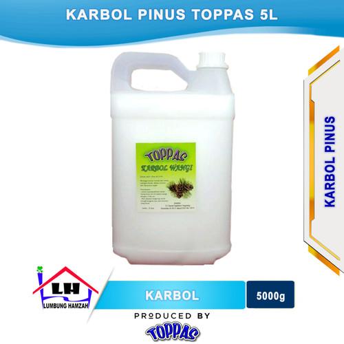 Foto Produk Karbol Pine 5 L TOPPAS Mutu TOP Harga PAS Instant/Sameday dari Toko Sabun Hamzah