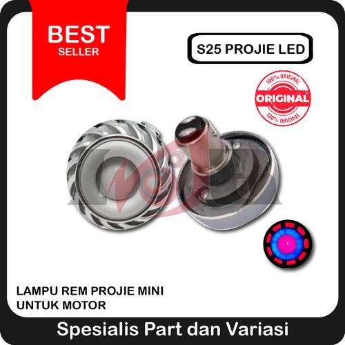 Foto Produk S25 Proji Led Stop Lamp Lampu Rem Projie Motor Projector Mini dari Ledeng Motor Bandung