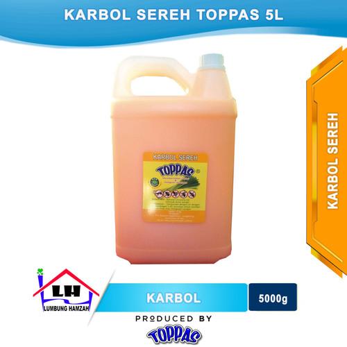 Foto Produk Karbol Sereh 5 L TOPPAS Mutu TOP Harga PAS Instant/Sameday dari Toko Sabun Hamzah