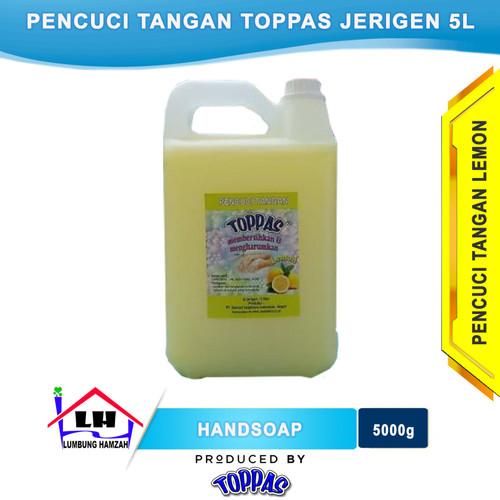 Foto Produk Hand Soap Lemon 5 L TOPPAS Mutu TOP Harga Pas Instant/Sameday dari Toko Sabun Hamzah