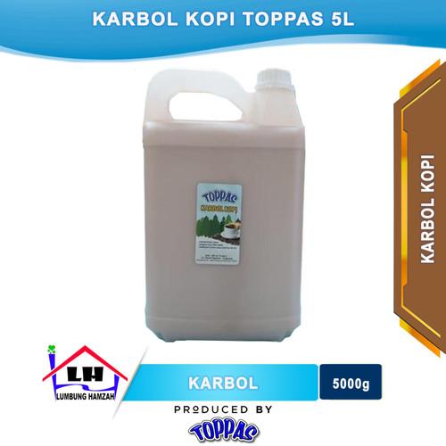 Foto Produk Karbol Kopi 5 L TOPPAS Mutu TOP Harga PAS Instant/Sameday dari Toko Sabun Hamzah