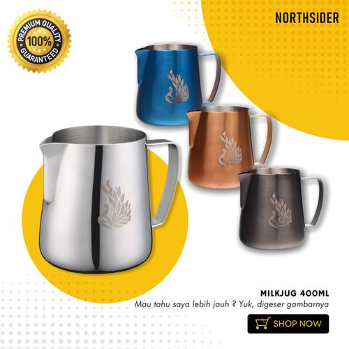 Foto Produk MILK JUG PROFESSIONAL LATTE ART 400ML - Silver dari Northsider coffee shop