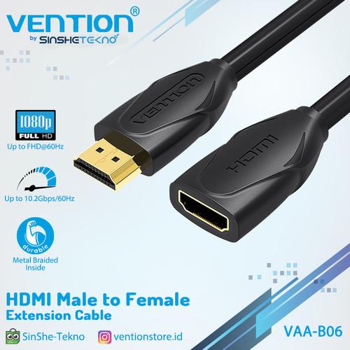 Foto Produk Vention B06 1M - Kabel Extension Perpanjangan HDMI Male to Female dari VENTION by SinsheTekno