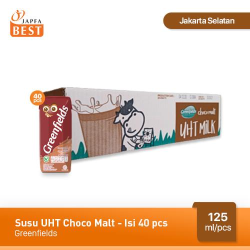 Foto Produk Susu UHT Choco Malt Greenfields 125 ml - Isi 40 pcs dari Japfa Best Jakarta