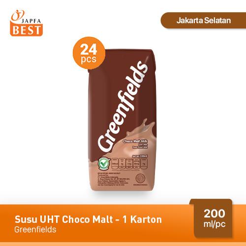 Foto Produk Susu Greenfields UHT Choco Malt 200 ml - Isi 24 pcs dari Japfa Best Jakarta