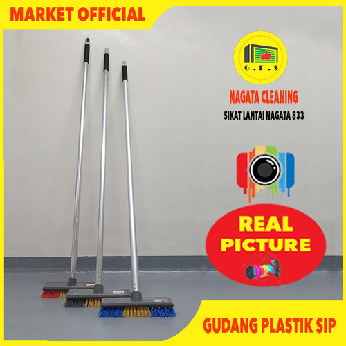 Foto Produk Sikat Lantai Gagang Panjang // Nagata NGT 833 dari Gudang Plastik SIP