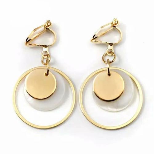 Foto Produk Round Clip Earing / Anting jepit tanpa tindikan / anting klip wanita - Gold dari D'Accessories.id