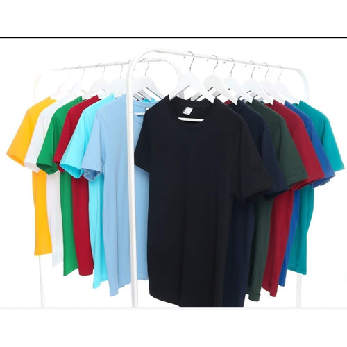Foto Produk Kaos Polos Pria Wanita Premium Cotton Combed 30s Harga Grosir S M L XL - Putih, S dari pusat polosan