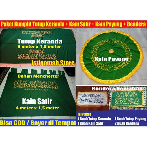 Foto Produk Paket Komplit Kain Penutup Keranda, Kain Satir, Kain Payung, Bendera dari Istiqomah-Store