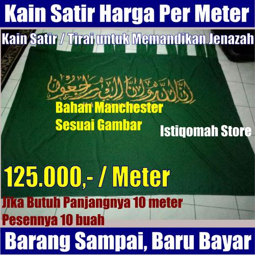 Foto Produk Harga Permeter Kain Satir Tirai Hijab Penutup Pemandian Jenazah dari Istiqomah-Store