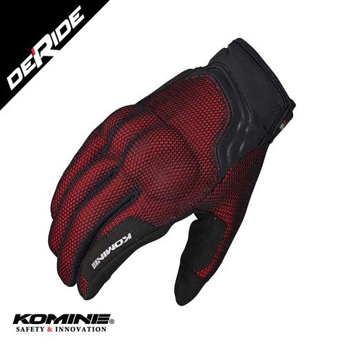 Foto Produk Sarung Tangan Komine GK-194 3D MESH GLOVES - RED dari DeRide Official Store