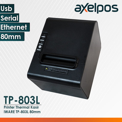 Foto Produk PRINTER KASIR THERMAL 80MM AUTO CUTTER KONEKSI USB /SERIAL /ETHERNET - TP-803L USB-LAN dari axelpos