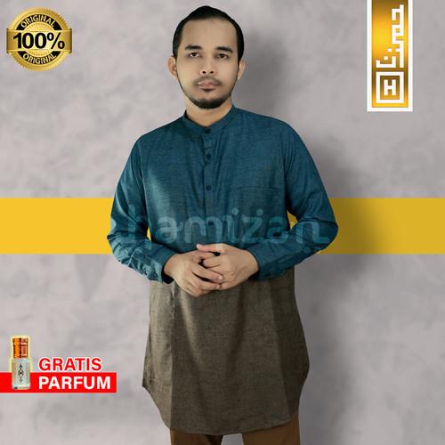 Foto Produk PREMIUM Pakaian Muslim Baju Koko Pakistan Kurta India Gamis Pria CMB - M dari Hamizan Moslem Store