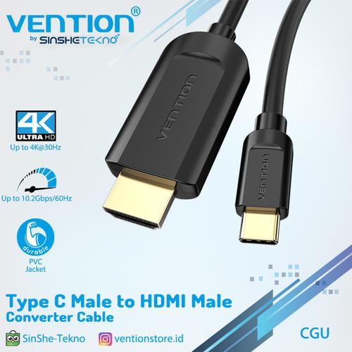 Foto Produk kabel Type C to HDMI CGU CGR Male Converter Mac android window - 1.5m dari VENTION by SinsheTekno