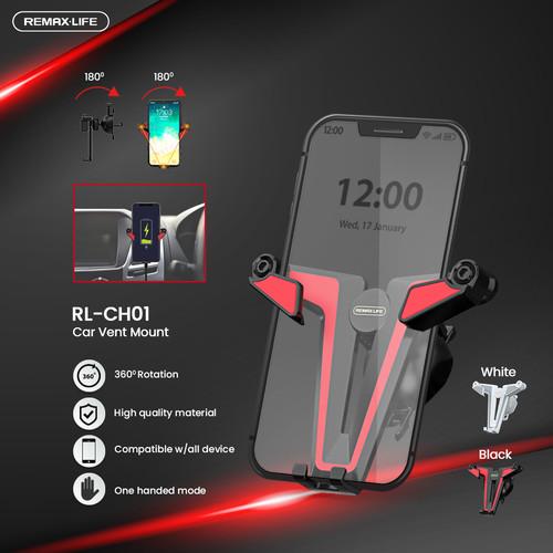 Foto Produk Luna Life Car Phone Holder Mobil Gravity Car Holder Air Vent Mount - Black-Red dari Luna Life