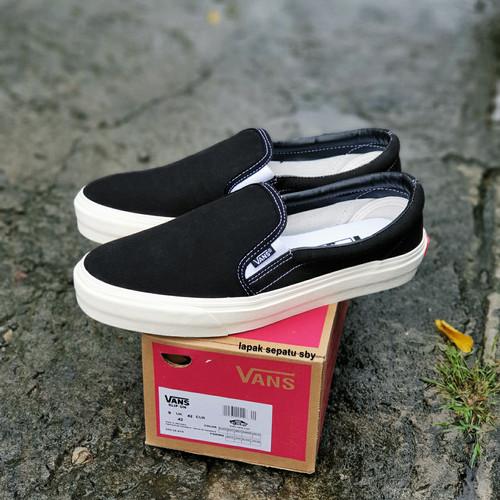 Foto Produk Sepatu Vans Slip On OG Black White Premium Bnib Sepatu Tanpa Tali dari IBRA Footwear