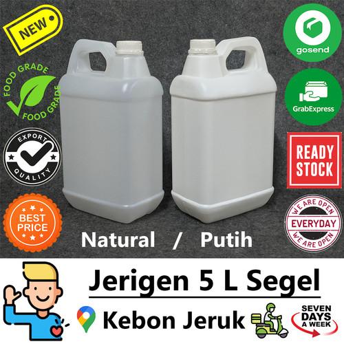 Foto Produk Jerigen 5 L Liter Segel (GoSend Jakbar) - Badan Natural dari DIBORONGGAN