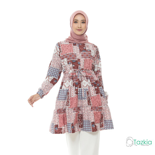 Foto Produk Atasan Muslim Wanita   Ariana Tunik Red   S M L XL   Tazkia Hijab - Size 1 dari Tazkia Hijab Store