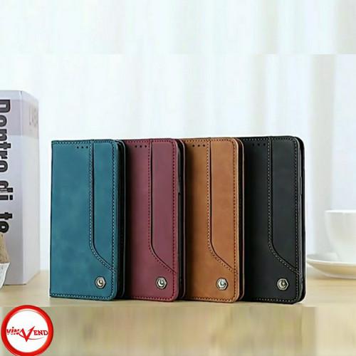 Foto Produk Samsung Galaxy A12 Flip Wallet Leather Case Cover Sarung Dompet - Hitam dari Vinvend ACC