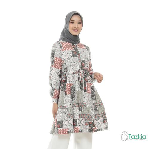Foto Produk Atasan Muslim Wanita | Ariana Tunik Abu| S M L XL | Tazkia Hijab - Size 1 dari Tazkia Hijab Store