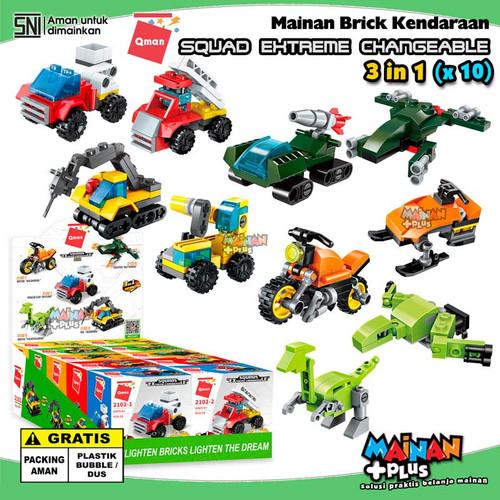 Foto Produk MAINAN LEGO ANAK LAKI-LAKI QMAN BRICK MOBIL MOTOR PESAWAT VEHICLE SET dari MainanPlus