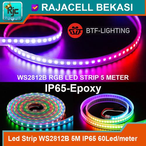 Foto Produk LED Strip RGB WS2812B Neopixel 5M 60Led/meter IP65 Waterproof dari RAJACELL BEKASI