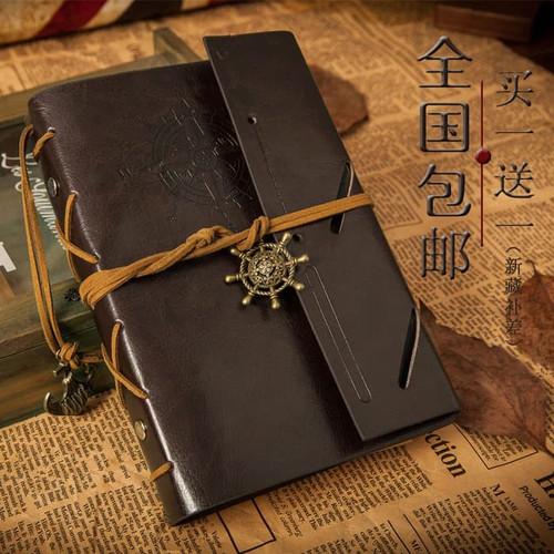Foto Produk Buku Catatan Binder Kulit Retro Compass / Buku Agenda Cover Kulit - Coffee dari Oline Store