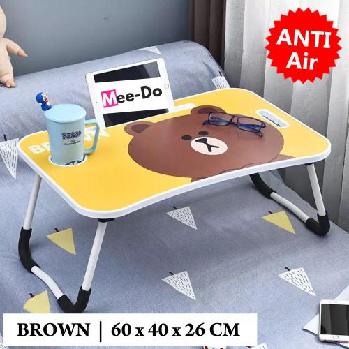 Foto Produk Mee-Do Meja Lipat Laptop / Meja Belajar Anak / Folding Table Karakter - LINE BROWN dari Mee Do