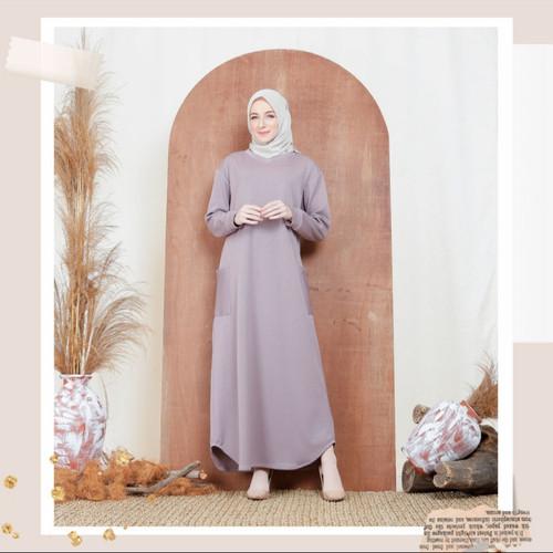 Foto Produk Nafashakila Nita Dress Abaya Muslim Teracotta dan Dusty Lilac - Dusty Lilac dari nafashakila