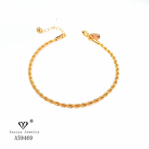 Foto Produk Gelang Rantai tambang Warna kombinasi Perhiasan imitasi Yaxiya 608 - TEBAL 2MM dari YAXIYA JEWELRY