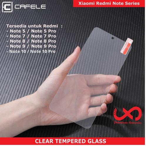 Foto Produk CAFELE TEMPERED GLASS XIAOMI REDMI Note 7 8 9 10 X PRO - CLEAR HD - NOTE 8 PRO dari Lapak X Dareh