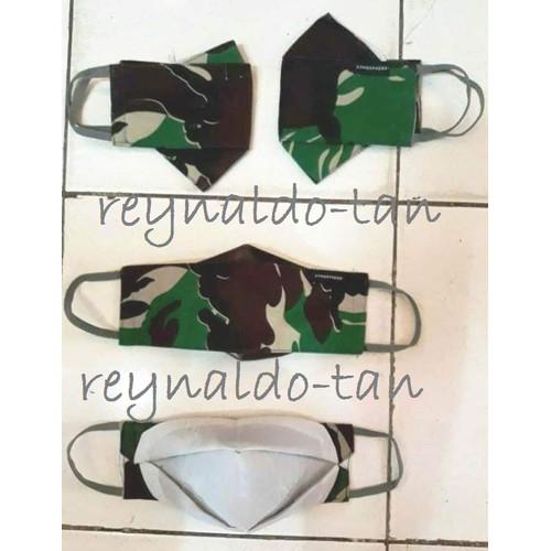 Foto Produk 12 Pcs Masker Kain TNI Loreng Model KF94 evo dari reynaldo-tan