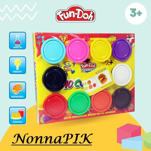 Foto Produk Fun Doh Refill 10 Dough Lilin Mainan Anak FunDoh / PlayDoh / Play Doh dari NonnaPIK