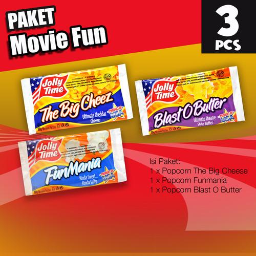 Foto Produk Paket Movie Fun (1BOB, 1FM, 1TBC) - Jolly Time Mircowave Popcorn dari Jolly Time Official