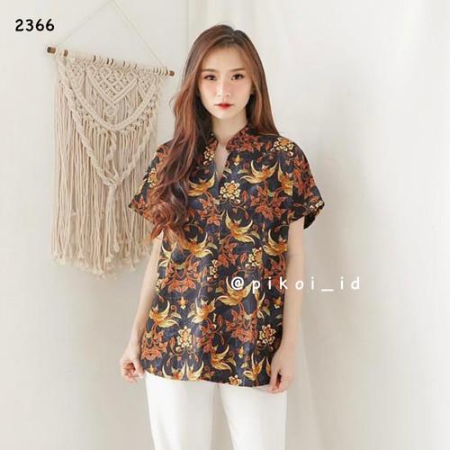 Foto Produk Atasan batik modern murah / baju batik wanita / seragam batik kantor - GREEN dari Pikoi_id