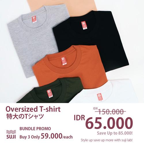 Foto Produk SUJI Bundling Promo 3 Kaos Oversize Tshirt dari SUJI LAB
