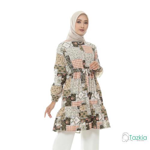 Foto Produk Atasan Muslim Wanita | Ariana Tunik Cream| S M L XL | Tazkia Hijab - Size 2 dari Tazkia Hijab Store