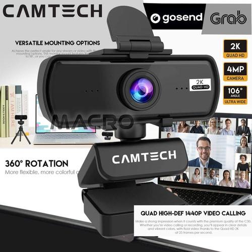 Foto Produk Camtech 2K QHD 4MP Webcam Built In Mic Web Cam Camera Live Video dari MACRO