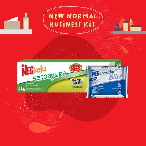 Foto Produk MEG Starter Pack - Keju Serbaguna 2Kg & Cheddar Slice 20(New Business) dari MEG Cheese Indonesia