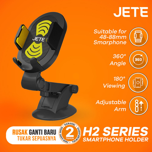 Foto Produk Car Holder Jete H2 Series Universal Smartphone - Kuning dari JETE Official Surabaya