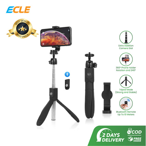 Foto Produk ECLE Selfie Stick Bluetooth Remote Tongsis / Tripod / Tomsis BSE1003 dari ECLE Official Store