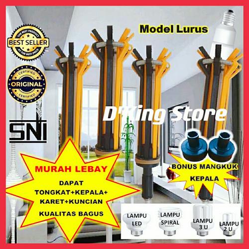Foto Produk Tongkat lampu/Tongkat pasang lampu MODEL LURUS dari D'King Store.