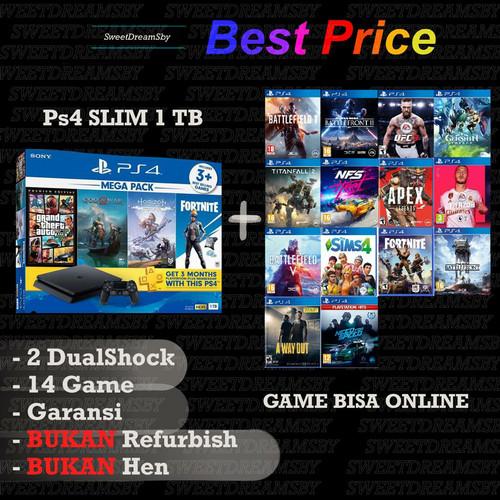 Foto Produk PS4 Slim 1TB garansi panjang (free 6 game)Sony playstation 4 slim - tanpa stick dari SweetDreamSby
