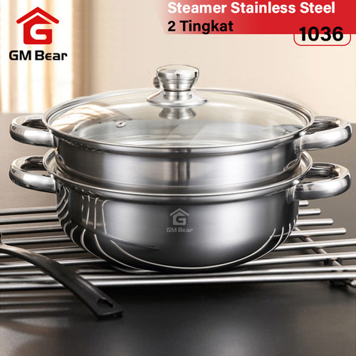 Foto Produk GM Bear Steamer kuat Stainless 1036 dari GM Bear