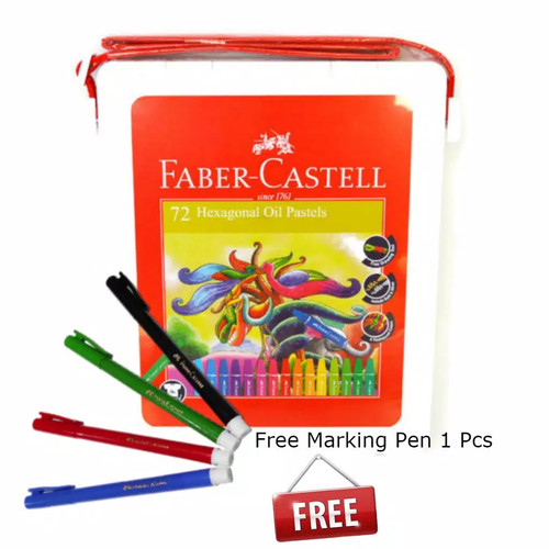 Foto Produk Crayon 72 Warna Faber Castell / Hexagonal Oil Pastel Faber Castell 72 dari YOUSTATIONERY