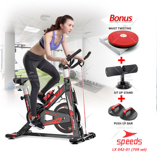 Foto Produk Spinning bike Sepeda Statis Olahraga Alat Fitness SPEEDS Set 042-709 dari Speeds Official Store