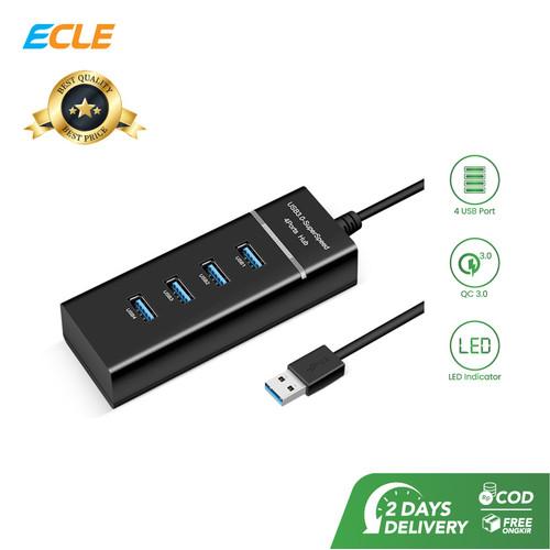 Foto Produk ECLE USB Hub 4 Port 3.0 High Speed Portable Komputer / Laptop Mini dari ECLE Official Store