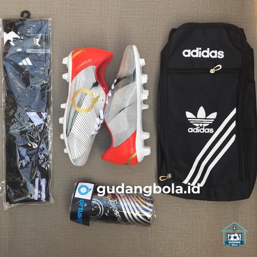 Foto Produk Paket Komplit Sepatu Bola Anak Ortus Murah Berkualitas - Putih, 33 dari gudangbolaid