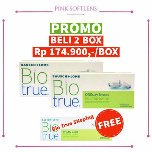 Foto Produk Bio True Softlens Bening 1 Day Harian Bausch and Lomb kadar air tinggi dari Pinksoftlens