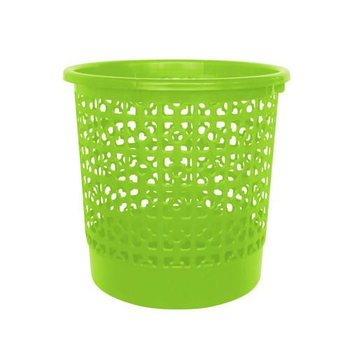 Foto Produk Kiramas Clover Dustbin 1115 - Green/Tempat Sampah Jaring dari Enportu Home Living